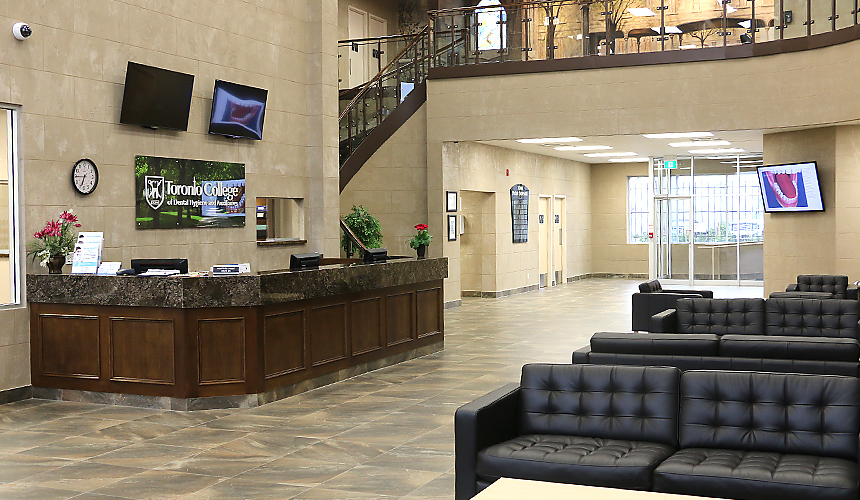 Toronto College of Dental Hygiene and Auxiliaries Inc. reception area